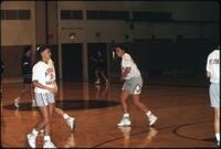 Augsburg women's basketball players on the court during practice, January 1992