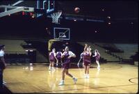 Augsburg women's basketball players during practice, February 1992