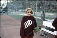 An Augsburg women's tennis team player, circa 1985.
