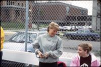 Augsburg women's tennis team players, circa 1985.