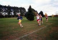 Augsburg men's cross country team runner during a race, circa 2000