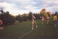 Augsburg men's cross country team runner running, circa 2000