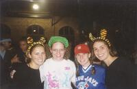 Augsburg women's cross country team runners in costumes, circa 2000