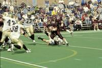 Augsburg men's football player running with the ball, 2001