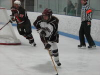 Augsburg women's hockey player during a game, circa 2005