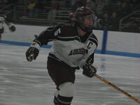 Augsburg women's hockey player skating, circa 2005