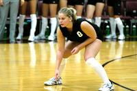 Augsburg women's volleyball player during a match, circa 2005