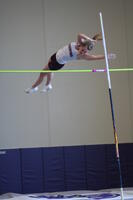 Augsburg women's track and field team player doing the pole vault, circa 2010