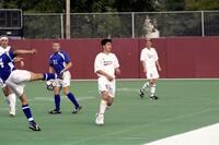 Augsburg men's soccer player during a game, 2001