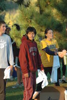 An Augsburg men's cross country team runner before a race, 2008.