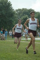 Augsburg men's cross country team runners running in a race, 2011.