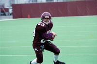 Augsburg men's football player holding the ball, 2001