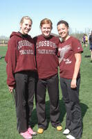 Augsburg women's track and field teammates take a photo together at an event, 2010.