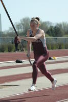 An Augsburg men's track and field team pole vaulter in a event, 2010.