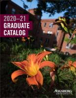 Augsburg University Graduate Catalog, 2020-2021