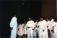 A Black choir performing, circa 1988