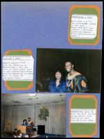 Seventeenth page of a scrapbook that M. Anita Gay Hawthorne made, 1989