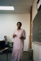 M. Anita Gay Hawthorne teaching African American history at Augsburg, 1990