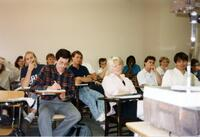 Students engaged in a classroom, 1990