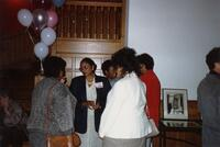 Black alumni convening at an event in Old Main, 1990
