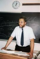 An instructor teaching Black history including Jim Crow and Booker T. Washington, 1990