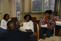 Trena Bolden Fields speaking to a group, 1998
