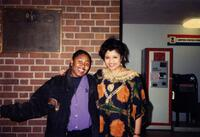 Noronirina Andriantiana posing for a photograph with an unidentified Black person, circa 1997