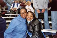 Trena Bolden Fields poses for a photograph with Dega Ali during Homecoming, 2002