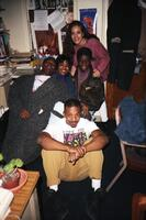 A group of Black people hanging out in Office of Black Student Affairs, circa 1995