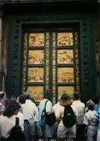 A door at the cathedral in Florence, Italy, circa 1995