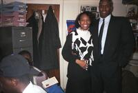 Anita Gay Hawthorne posing with an unidentified Black man, circa 1995