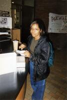 A Black person chilling in the Christensen Center, 1999