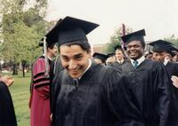 Augsburg graduates walking past, circa 1995