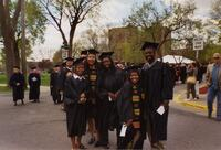 A group of graduating Black seniors posing for a photograph, 2004
