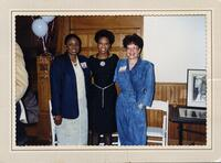 M. Anita Gay Hawthorne, the Honorable LaJune Thomas Lange, and another person posing, circa 1990