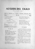 Augsburg Ekko May, 1908
