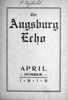 Augsburg Echo April, 1919, Page 01
