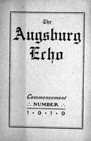 Augsburg Echo Commencement Number [May], 1919