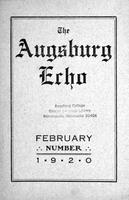 Augsburg Echo February, 1920, Page 01