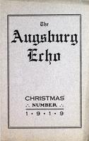 Augsburg Echo Christmas Number [December], 1919, Page 01