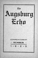 Augsburg Echo Commencement Number [April], 1920