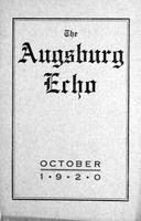 Augsburg Echo October, 1920