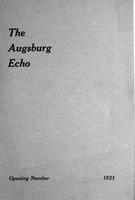 Augsburg Echo Opening Number [October], 1921