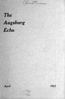 Augsburg Echo April, 1921