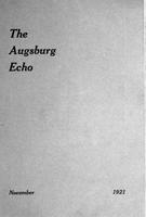 Augsburg Echo November, 1921
