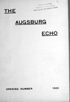 Augsburg Echo Opening Number [October], 1922