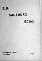 Augsburg Echo Commencement Number [May], 1922