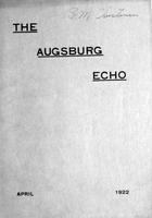 Augsburg Echo April, 1922