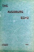 Augsburg Echo Opening Number [October], 1923