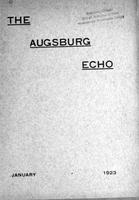 Augsburg Echo January, 1923, Page 01